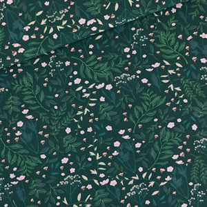 Bild von Flower Garden - M - French Terry - Dunkelstes Fichtengrün