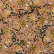 Image de Summer Flowers - L - French Terry - Brun Chameau