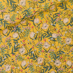 Picture of Summer Flowers - S - Viscose - Rayon - Jaune d'Oeuf