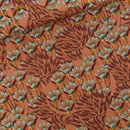 Afbeelding van Gilly Flowers - M - Cotton Canvas Gabardine Twill - Zonnebrandbruin